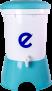 Ecofiltro Plastico Color Celeste
