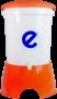 Ecofiltro Plastico Color Naranja